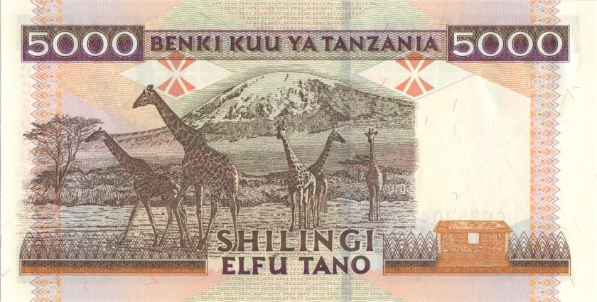 Tanzania P32 5.000 Shillings 1997 UNC