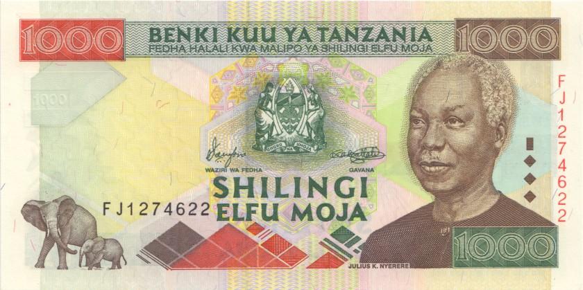 Tanzania P34 1.000 Shillings 2000 UNC