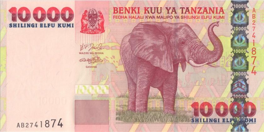Tanzania P39 10.000 Shillings 2003 UNC