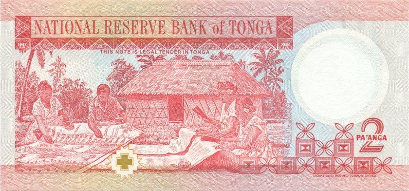 Tonga P32d 2 Paʻanga 1995 UNC