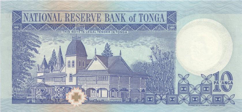 Tonga P34c 10 Paʻanga 1995 UNC