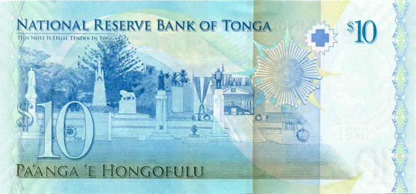 Tonga P40(1) 10 Paʻanga 2009 UNC
