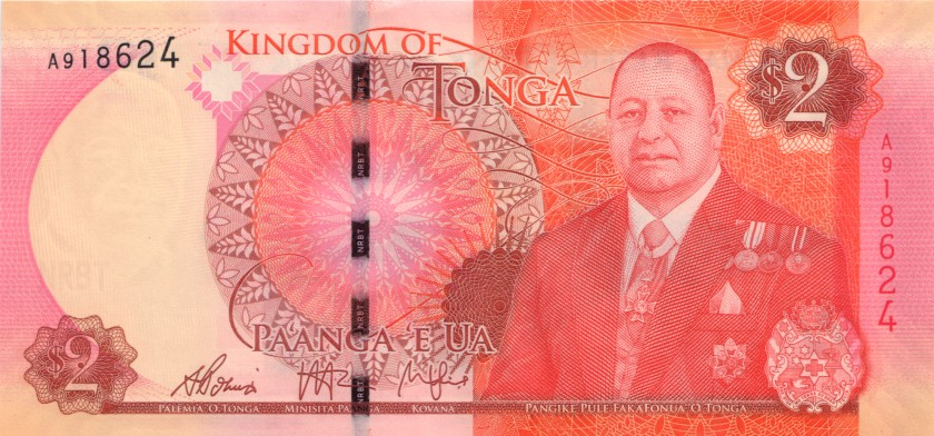 Tonga P44 2 Paʻanga 2015 UNC