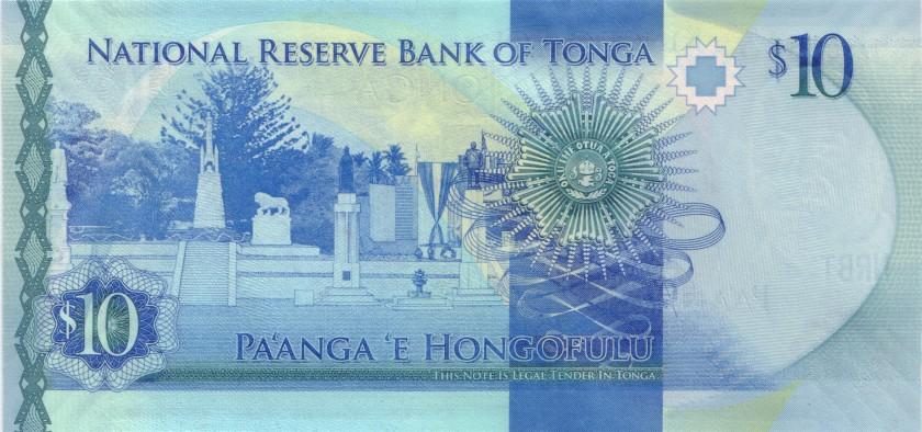 Tonga P46 10 Paanga 2015 UNC