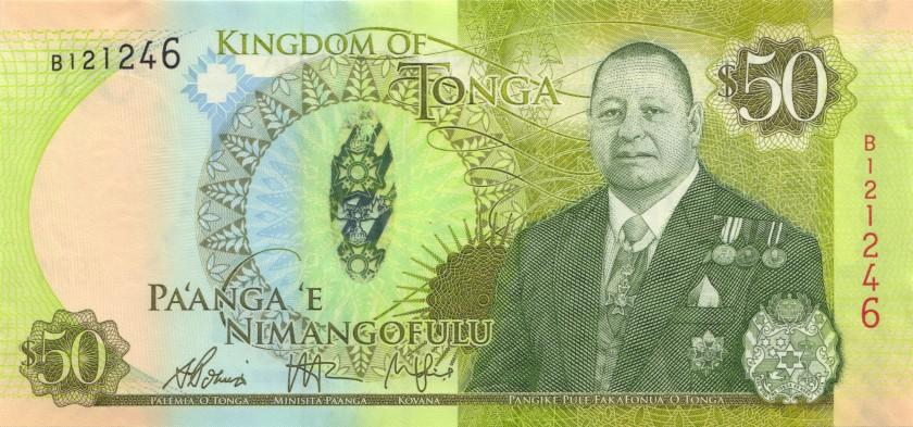 Tonga P48 50 Paanga 2015 UNC
