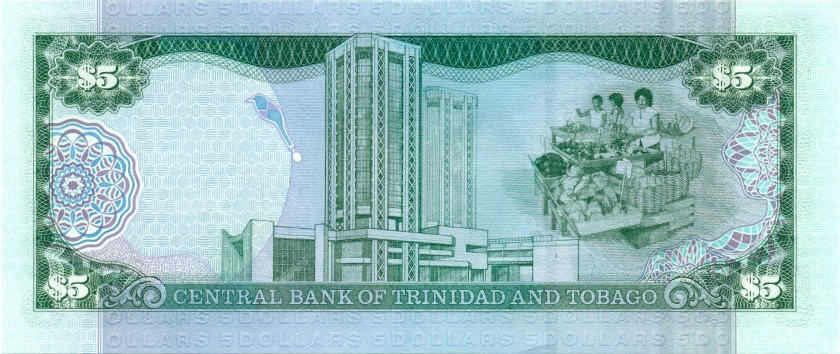 Trinidad and Tobago P42b 5 Dollars 2002 UNC