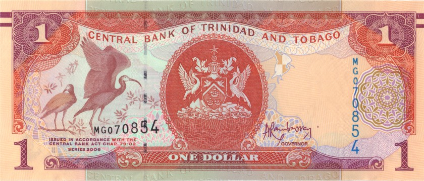 Trinidad and Tobago P46A(1) 1 Dollar 2006 UNC