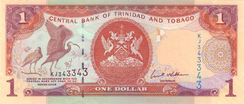 Trinidad and Tobago P46 343343 RADAR 1 Dollar 2006 UNC