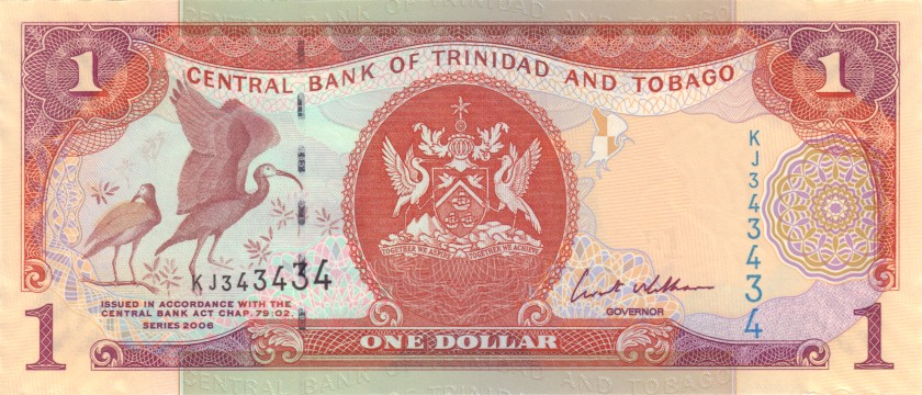 Trinidad and Tobago P46 343434 1 Dollar 2006 UNC