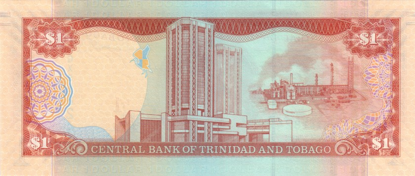 Trinidad and Tobago P46A(2) 1 Dollar 2006 UNC