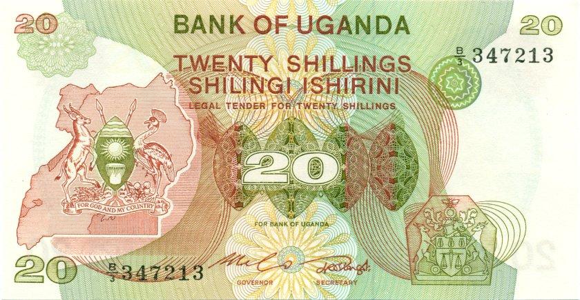 Uganda P17 20 Shillings 1982 UNC