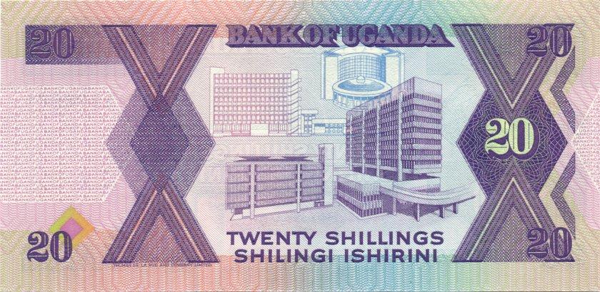 Uganda P29a 20 Shillings 1987 UNC