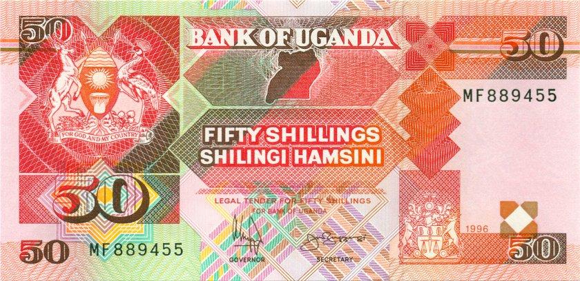 Uganda P30c 50 Shillings 1996 UNC