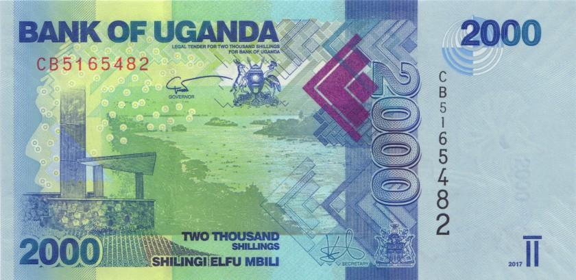 Uganda P50d 2.000 Shillings 2017 UNC