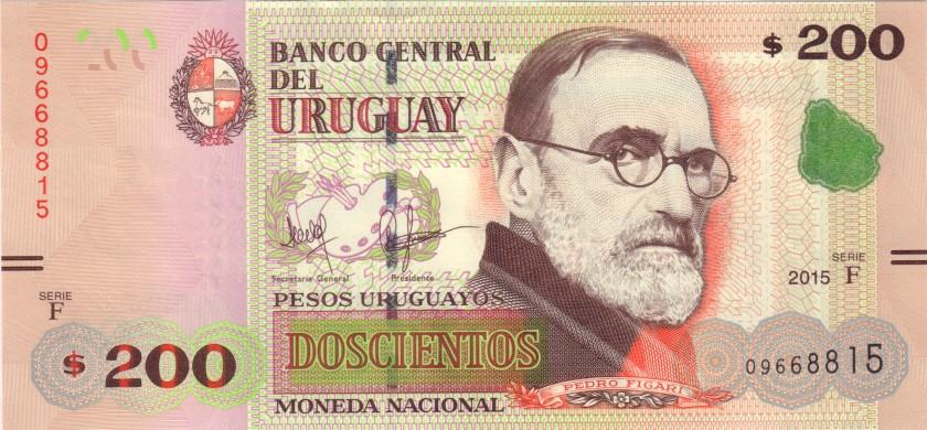 Uruguay P96 200 Pesos Uruguayos 2015 UNC
