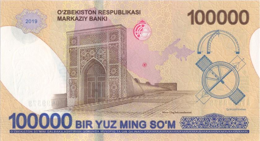 Uzbekistan P-NEW 100.000 Sum 2019 UNC