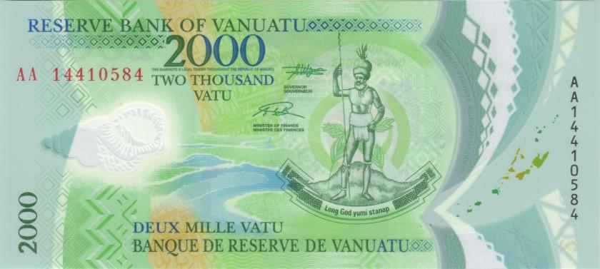 Vanuatu P14 2.000 Vatu 2014 UNC