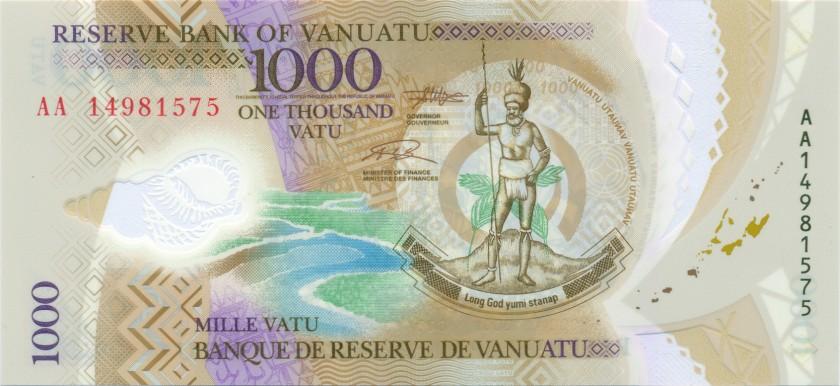 Vanuatu P13 1.000 Vatu 2014 UNC
