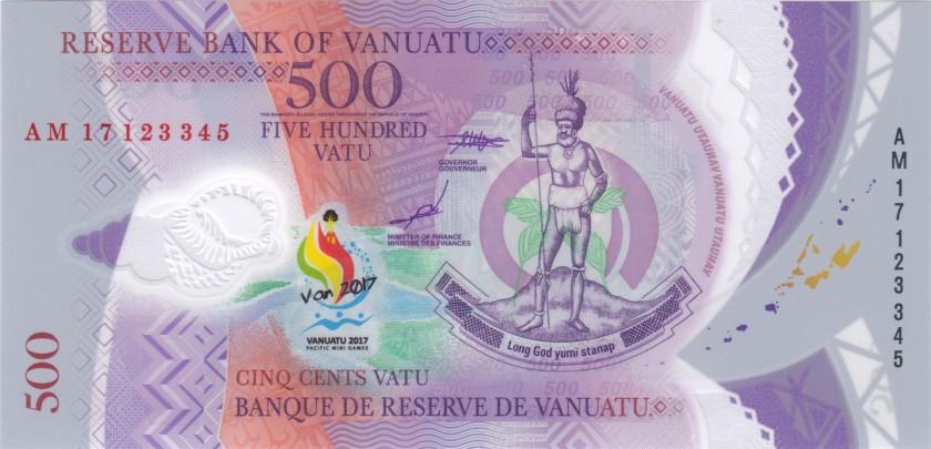 Vanuatu P-NEW 500 Vatu 2017 UNC