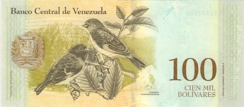 Venezuela P100b3 100.000 Bolivares 2017 UNC