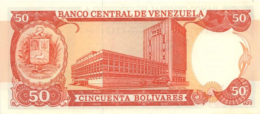 Venezuela P72 50 Bolivares 1990 UNC-