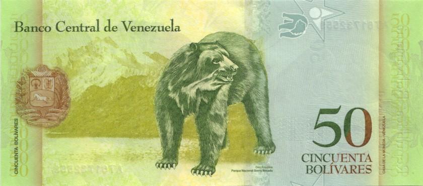 Venezuela P92k 50 Bolívares 05.11.2015 UNC