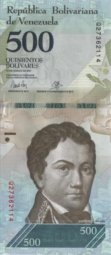 Venezuela P94b 500 Bolivares 2017 UNC