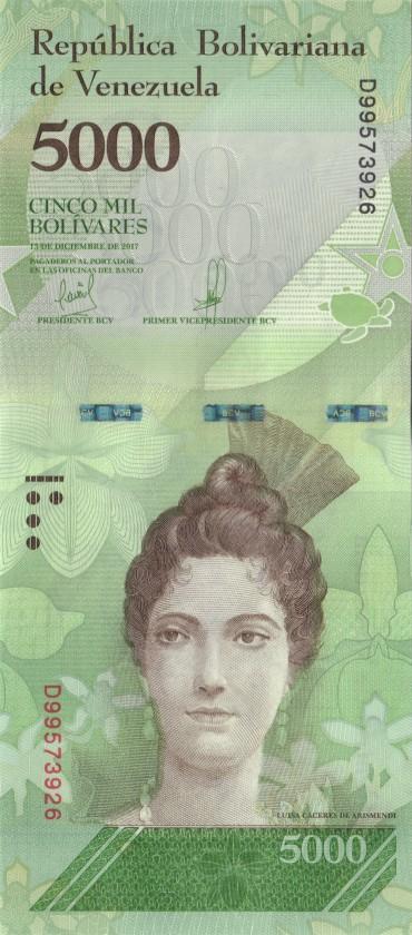 Venezuela P97c 5.000 Bolivares 2017 UNC