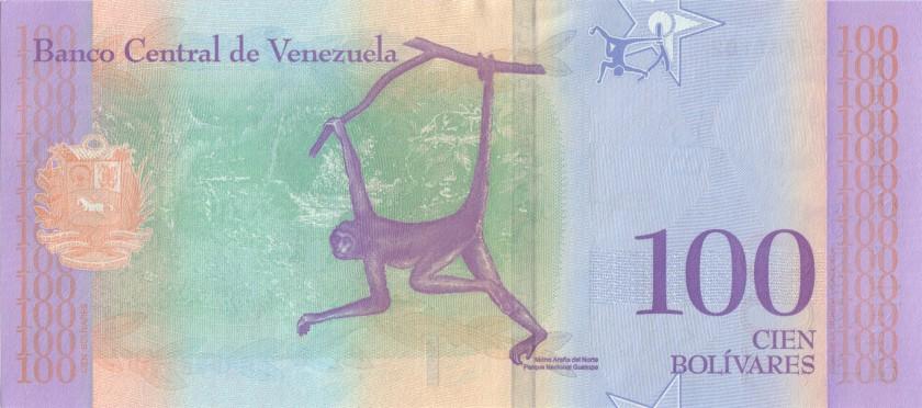 Venezuela P-NEW 100 Bolivares 2018 UNC
