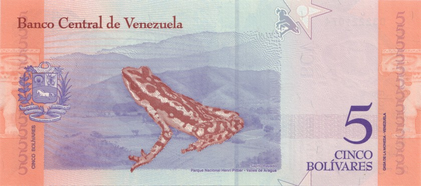 Venezuela P102 5 Bolivares 2018 UNC