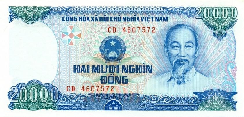 Vietnam P110 20.000 Dong 1991 UNC