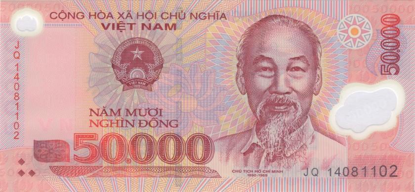 Vietnam P121k 50.000 Dong 2014 UNC