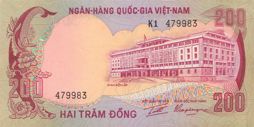 Vietnam South P32 200 Dong 1972 UNC