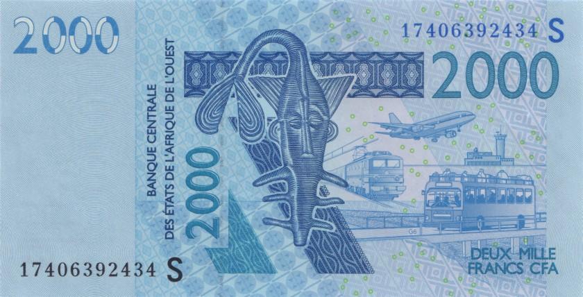 West African States Guinea Bissau P916Se 2.000 Francs 2017 UNC
