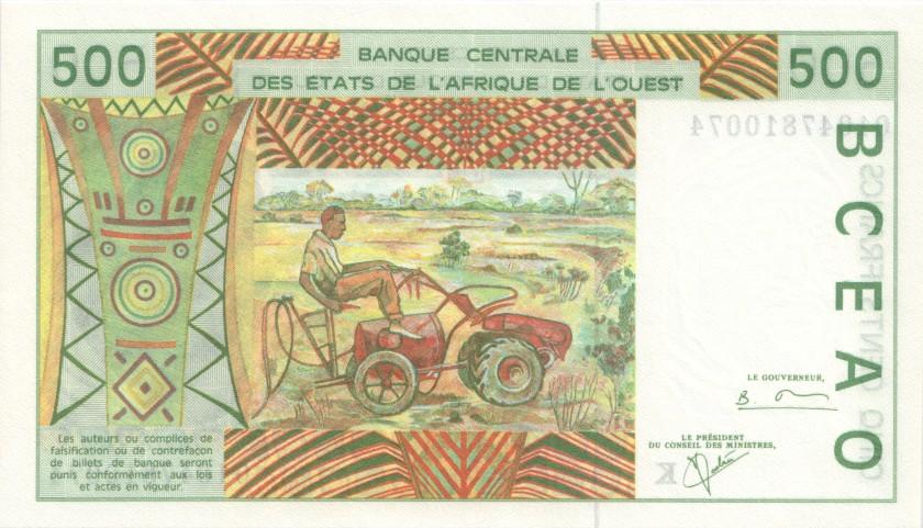 West African States Senegal P710Kl 500 Francs 2001 UNC