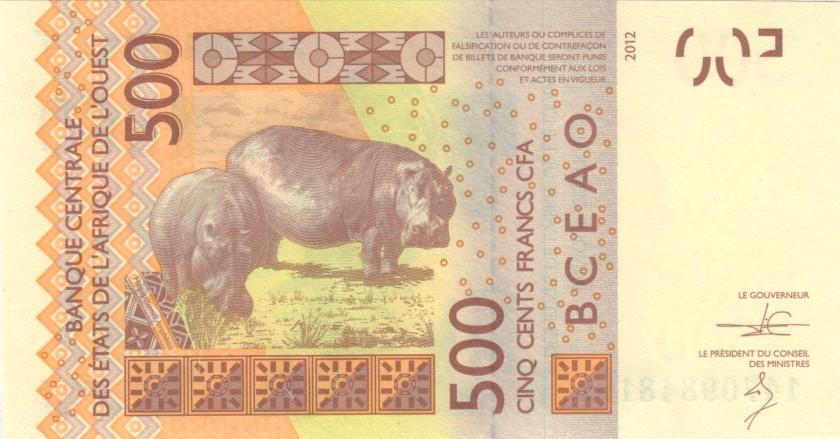 West African States Togo P819Tc 500 Francs 2014 UNC