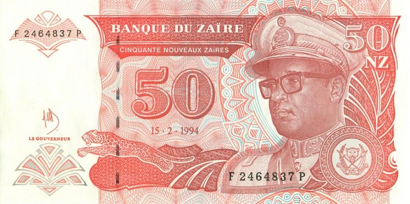 Zaire P59 50 New Zaires 1994 UNC