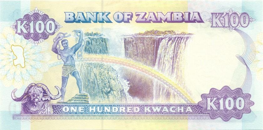 Zambia P34 100 Kwacha 1991 UNC