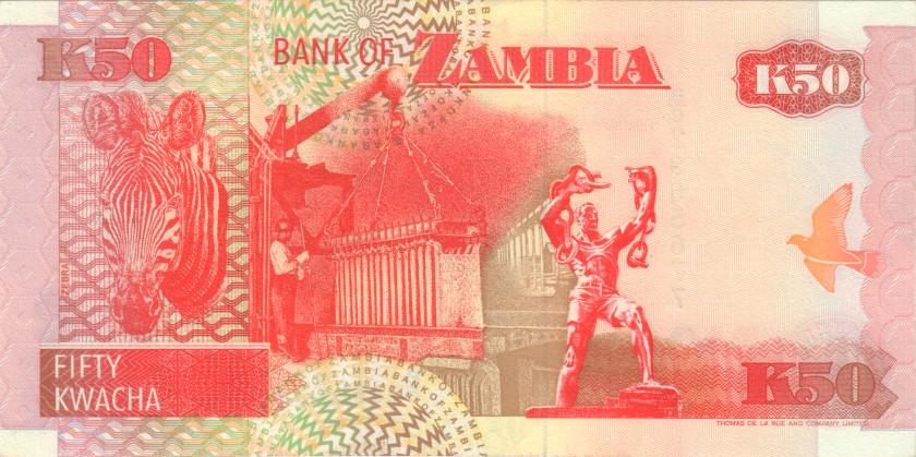 Zambia P37a 50 Kwacha 1992 UNC
