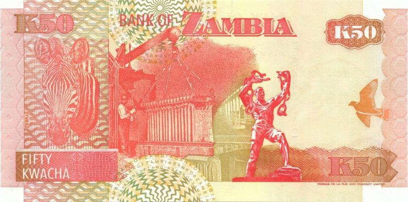 Zambia P37c 50 Kwacha 2001 UNC