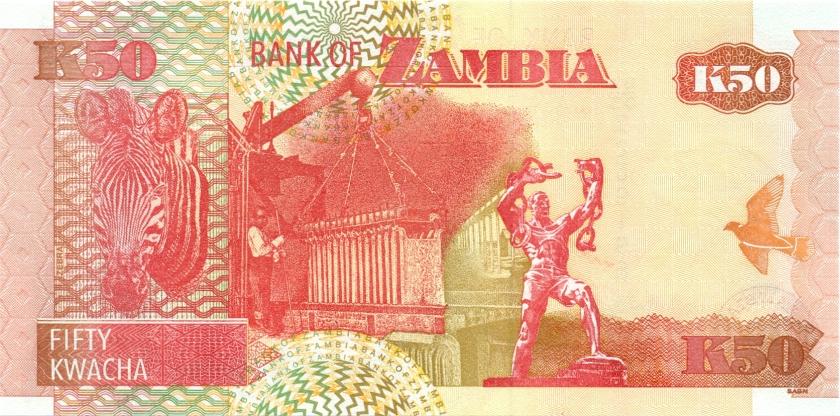 Zambia P37d(2) 50 Kwacha 2003 UNC