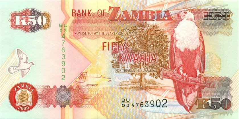 Zambia P37h 50 Kwacha 2009 UNC