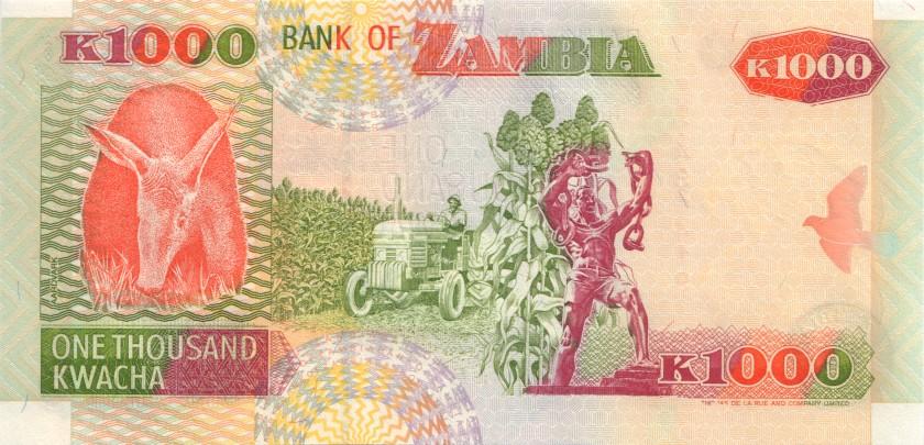 Zambia P40b 1.000 Kwacha 2001 UNC