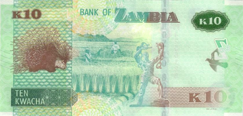 Zambia P58 10 Kwacha 2020 UNC