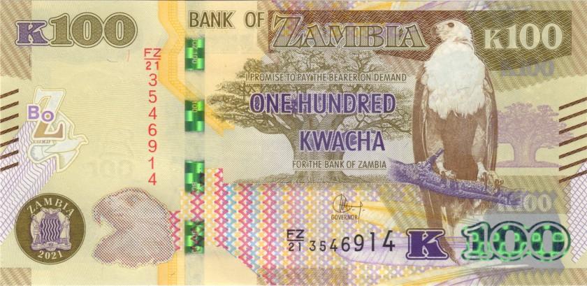 Zambia P61 100 Kwacha 2021 UNC
