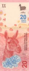 Argentina P361 20 Pesos 2017 UNC