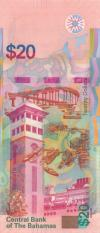 Bahamas P80 20 Dollars 2018 UNC