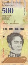 Venezuela P108a 500 Bolivares 2018 UNC