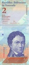 Venezuela P88b 2 Bolivares 24.05.2007 UNC