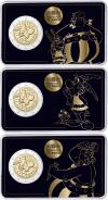 France 2019 2 Euro The 60th anniversary of Asterix 3 coins UNC
